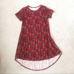LulaRoe shirt dress in flower print